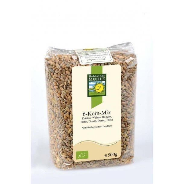 6 kornblanding 500 gram - Økologisk