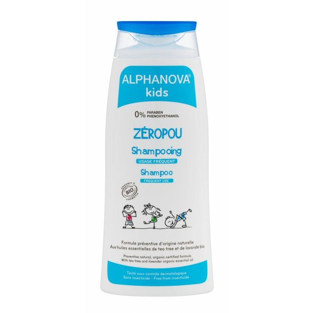 Alphanova Kids Zeropou Shampoo 200 ml Bio