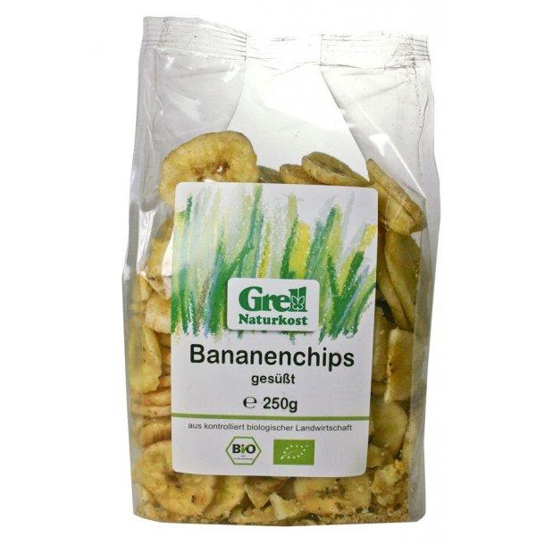 Bananchips tørret 250 g - Økologiske