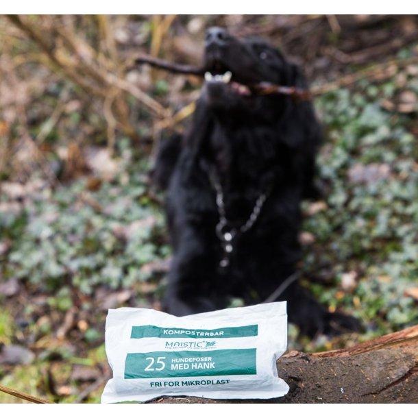 Hundeposer kompostbare 25 stk. med hank Maistic - Miljøvenlig