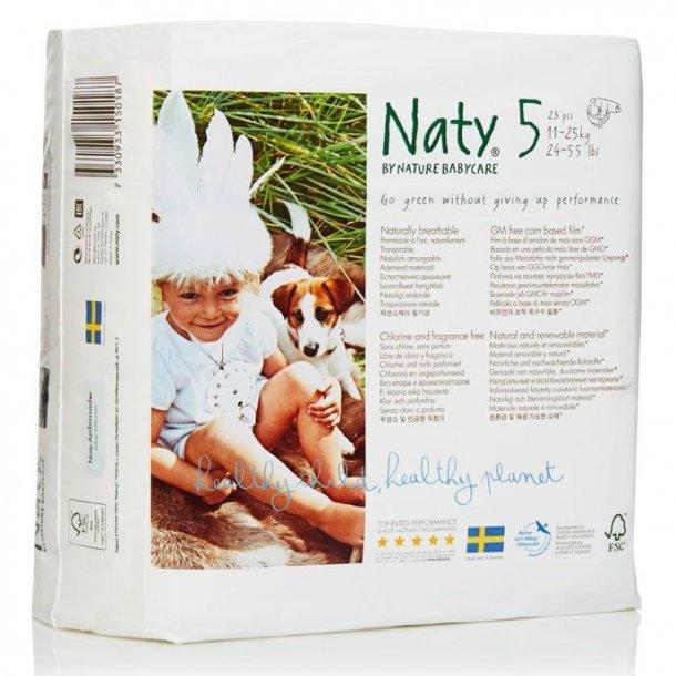 Bleer str. 5 11-25 kg. 23 stk fra Naty - Økologiske
