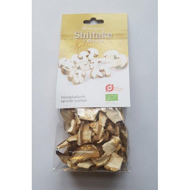 Shiitake tørrede 20 gram - Økologiske