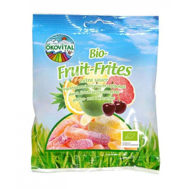 Vingummi sure frugtfritter 100 g - Økologisk