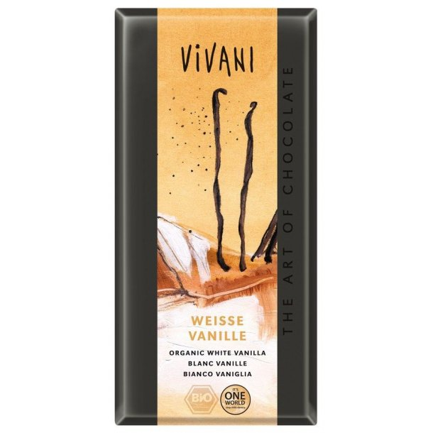 Vivani hvid chokolade med vanille 100 g - Økologisk