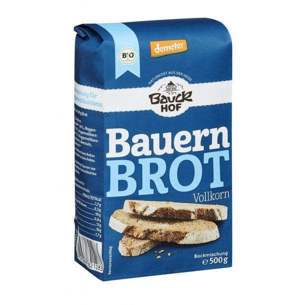 Bag selv brød Fuldkorn Bauck Hof 500 gram - Biodynamisk