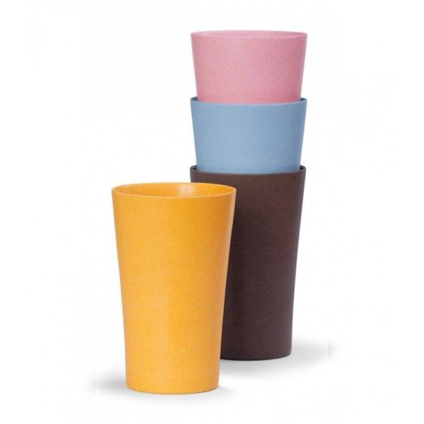 Bambuskrus 4 stk forskellige farver - Miljøvenlig