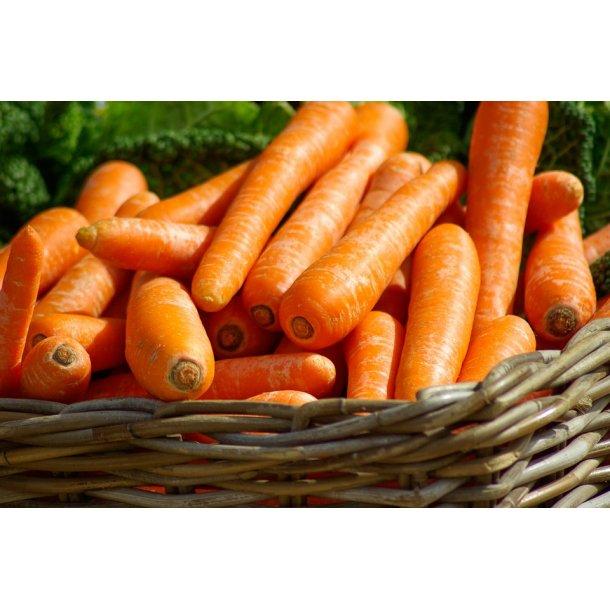 Gulerødder vaskede 1 kg - Økologisk