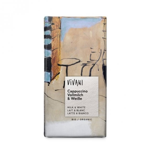 Vivani cappuccino chokolade 40% 100 g. - Økologisk