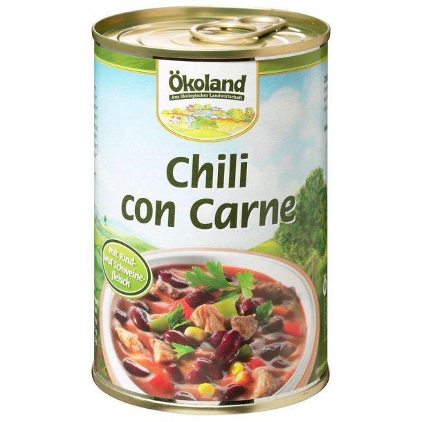Chili con carne med okse og grisekød 400 g - økologisk