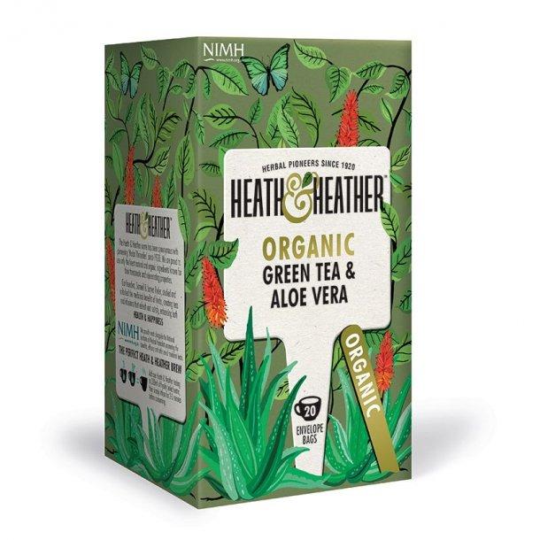 Grøn te med Aloe Vera 20 breve - Økologisk