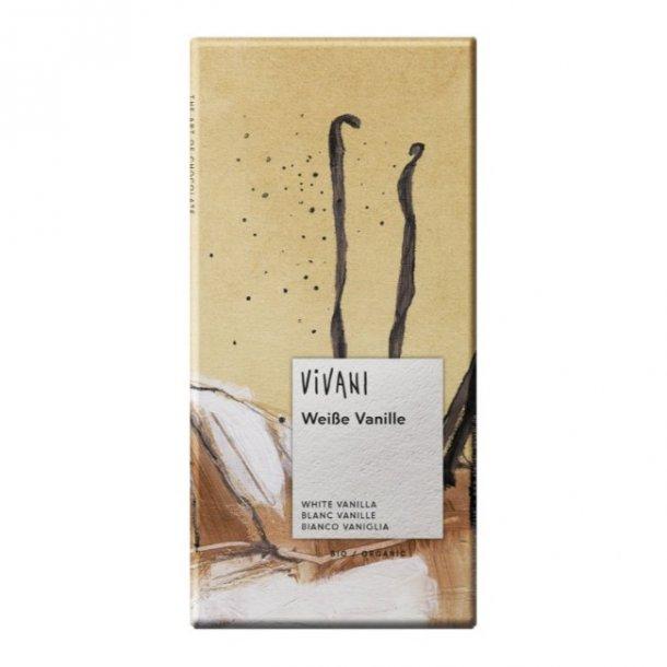 Vivani hvid chokolade med vanilje 80 g. - Økologisk