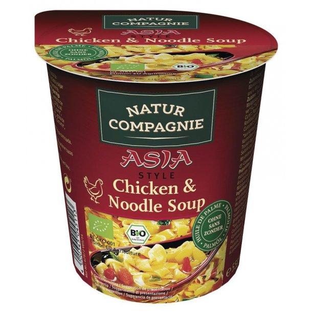 Nudler (hurtige) i kop med kylling - Økologisk