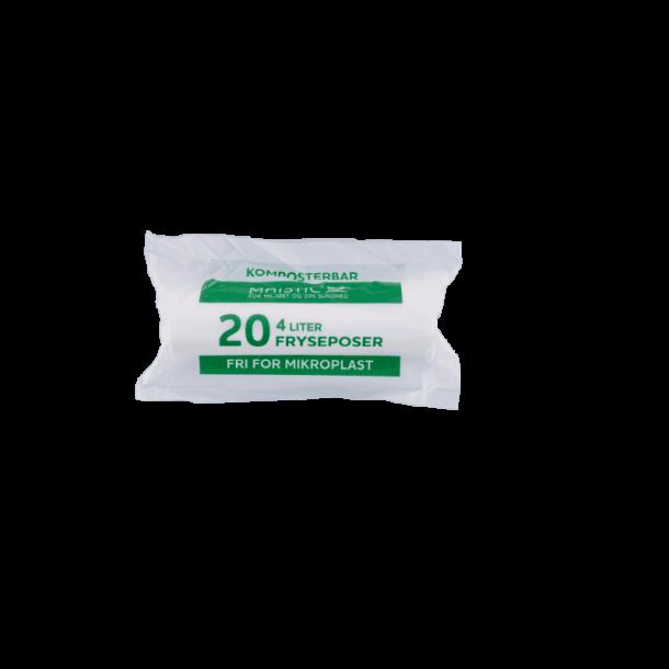 Fryseposer kompostbare 4 liter 20 stk Maistic - Miljøvenlig