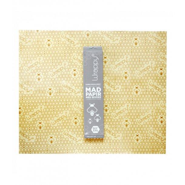 Madpapir med bivoks klip-selv ark / XXL Wrappy - Miljøvenlig